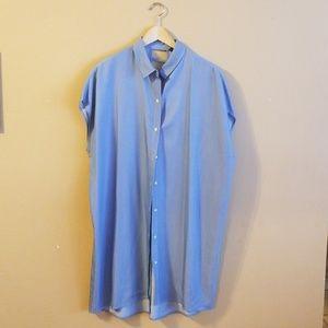 Zara Chambray Shirt Dress